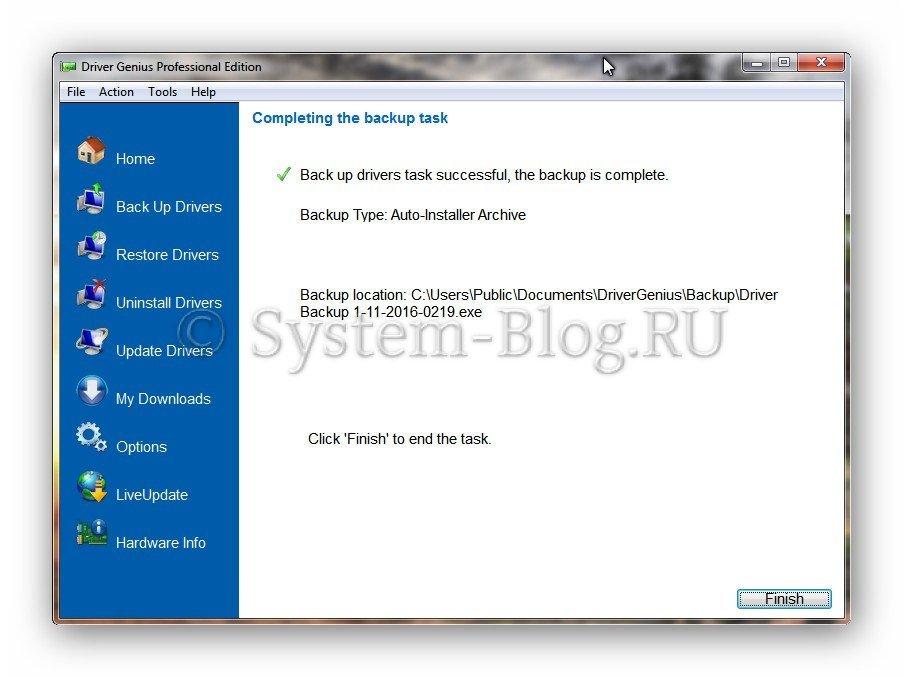 Как сохранить драйвера при переустановке Windows
