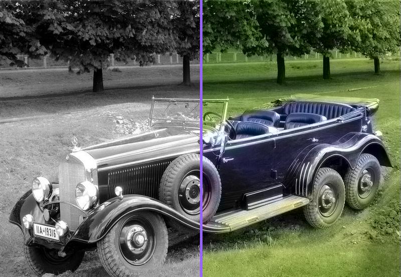 Как сделать черно-белое фото цветным онлайн и без Photoshop