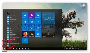 Открытие параметров Windows 10