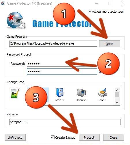 Установить пароль на запуск программы в windows